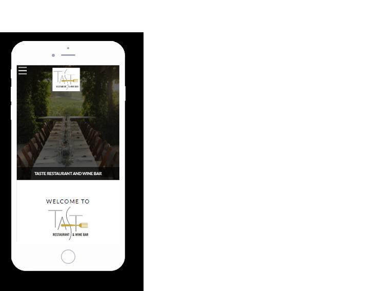 mobile browser mockup of the best restaurant websites